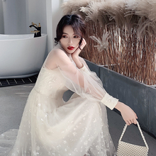 Dress small dress usually can wear 2019 Xianqi student birthday party dress noble celebrity evening dress autumn