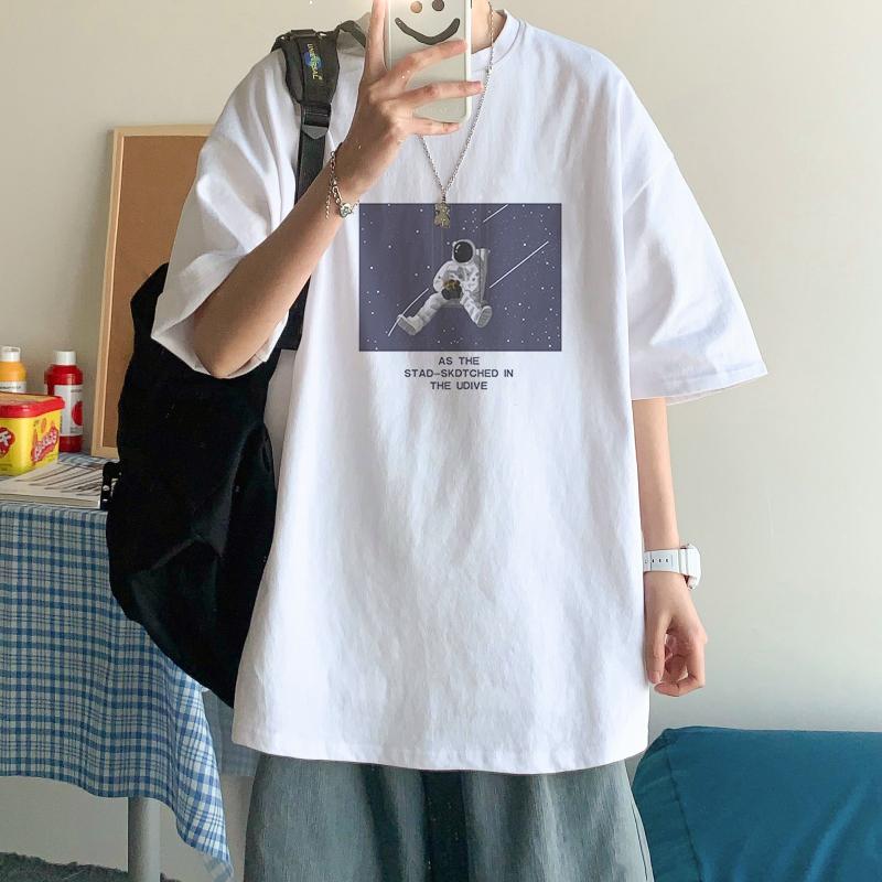 短袖t恤男休闲潮牌宽松ins打底衫