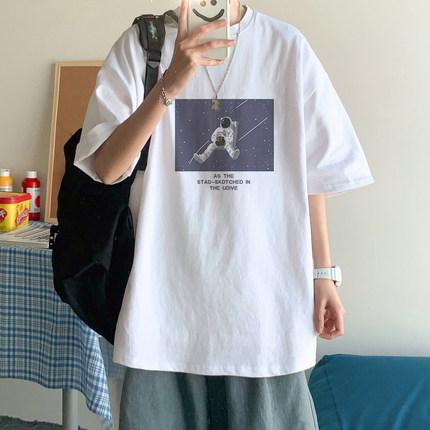 短袖t恤男休闲潮牌宽松半袖ins韩版潮流学生新款2021长袖打底衫