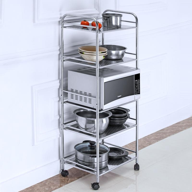 廚房置物架微波爐架落地不鏽鋼烤箱架子儲物架收納用品鍋架蔬菜架