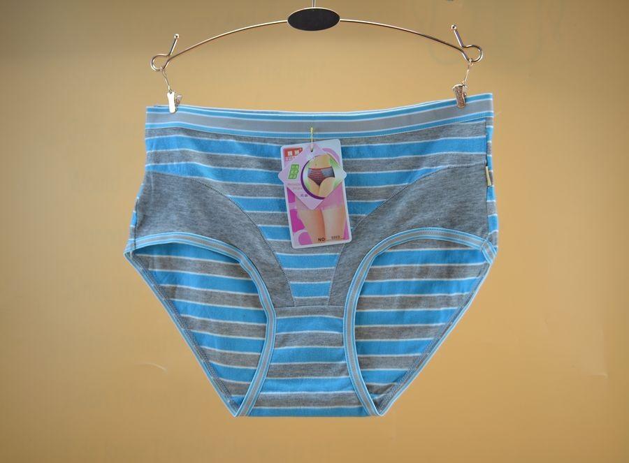 品牌尾货高档奢华时尚新款中腰纯棉彩条女士舒适内裤特价