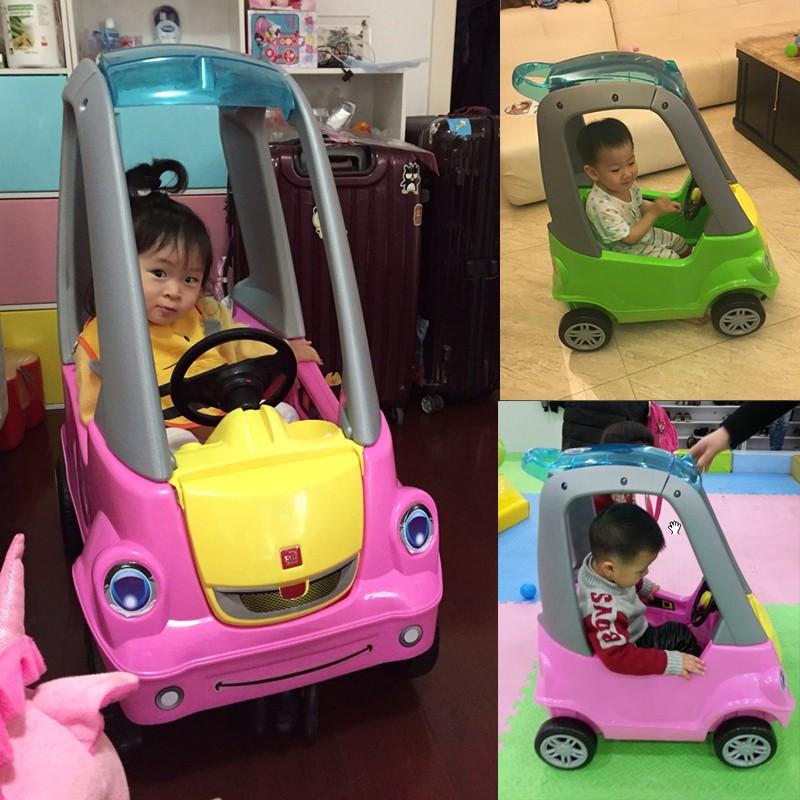 宝宝四轮游乐场玩具1-3岁小房车可坐人手推婴儿童滑行踏行学步车