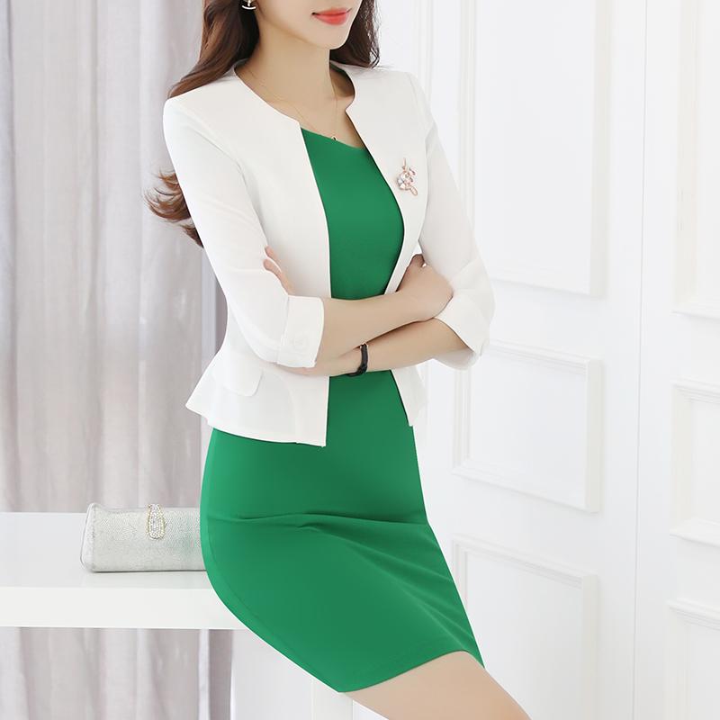 职业女装套装两件套秋时尚名媛气质韩版修身美容院连衣裙工作服夏