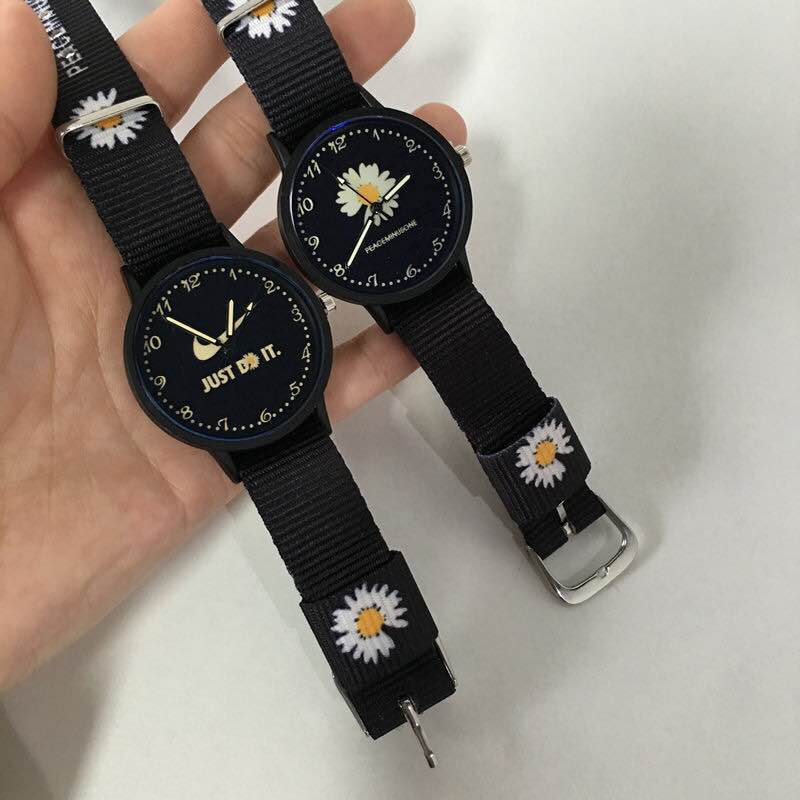 Little Daisy watch, INS style, Gd, same student, Korean version, simple canvas Band Watch, creative couples best friend Watch