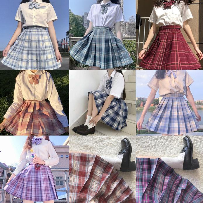 日系合集jk制服全套格裙学院风制服套装百褶裙女学生制服12-16岁