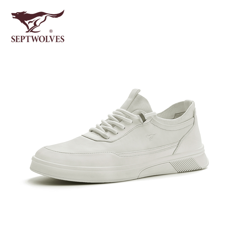 Seven wolves men's shoes 2020 new fashion casual shoes men's white board shoes summer breathable set foot small white shoes man