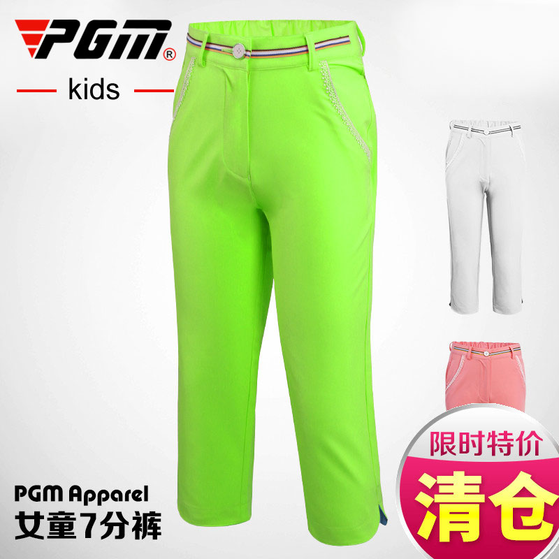Crazy PGM special! Authentic golf clothes girls Summer Shorts childrens Capris sportswear