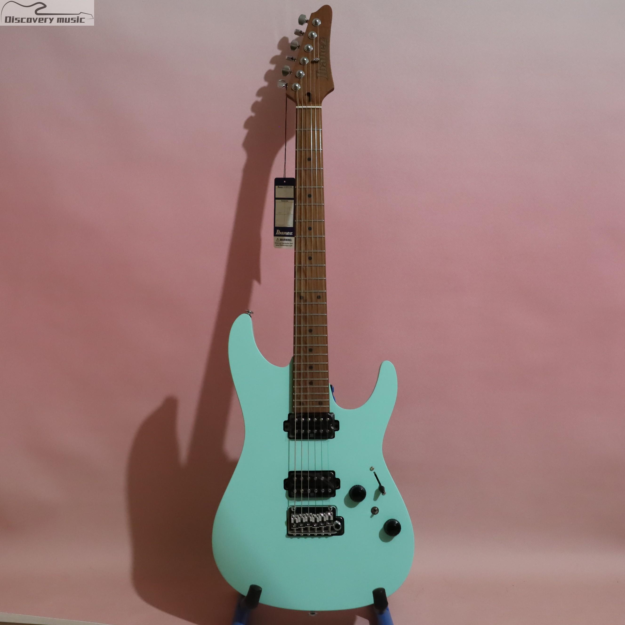 情怀乐器IBANEZ依班娜AZ242 SFM哑光冲浪绿海藻绿色电吉他