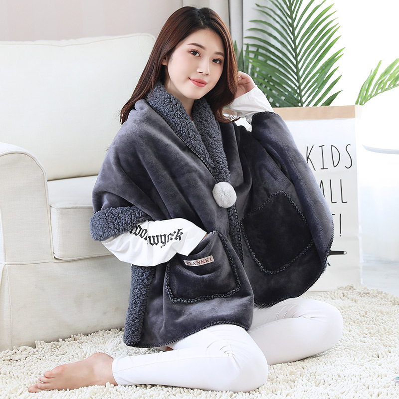 Export new Nordic quality small blanket knee protection cloak shawl blanket lazy blanket office air conditioner double-layer thickening