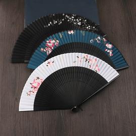 林扇扇子折扇中国风复古风精致镂空竹质装饰小夏季随身舞蹈扇