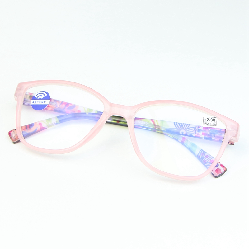 New zoom anti blue presbyopic glasses for womens distance and near dual purpose Fashion Pink square reading glasses