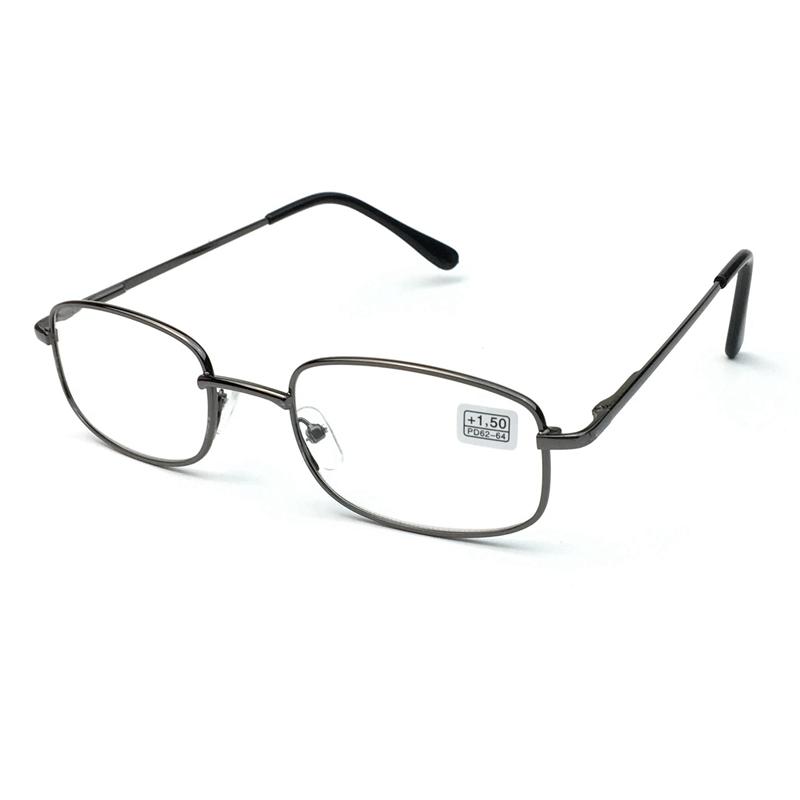 2020新款金属方形老花镜男款1387高清阅读眼镜女款+100+125+400