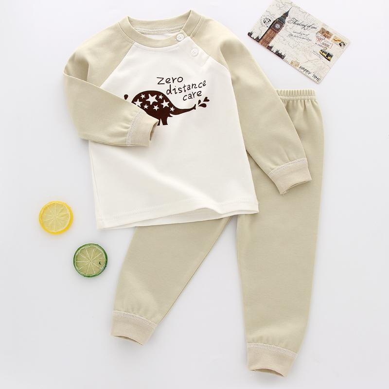 0婴儿内衣纯棉套装6-12个月 新生儿春装1秋衣秋裤男3岁女宝宝内衣