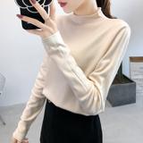 秋冬季2020新款半高领毛衣女修身紧身长袖内搭纯色洋气打底针织衫