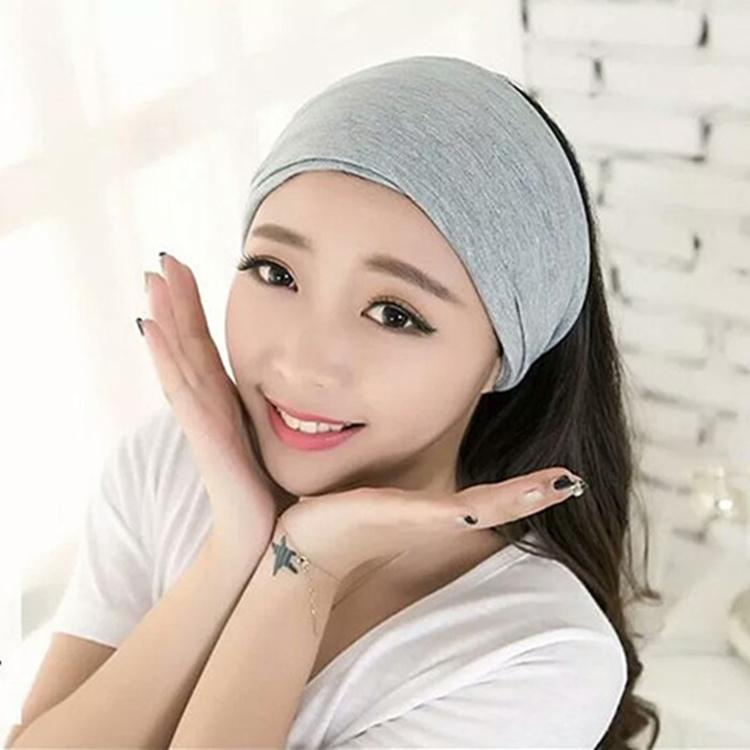 韩国纯棉运动发带宽边发箍头套发饰洗脸压发发卡防风保暖头巾头箍