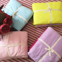 低价福利~马卡龙天竺棉四件套 纯棉多彩针织多件套 柔软床品套件