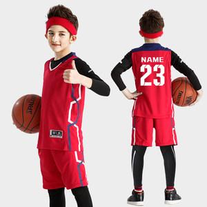 篮球服套装男童女小学生运动球衣