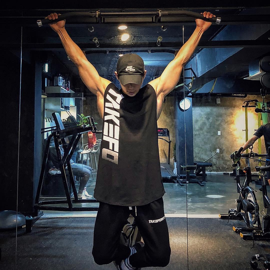 (用50元券)肌肉队长健身潮牌背心男兄弟夏季跑步篮球训练坎肩无袖T恤运动服