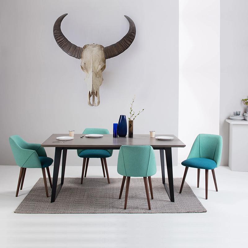 轻奢北欧风餐桌餐桌椅北欧组合椅子饭桌家用小户型桌椅桌子工业风