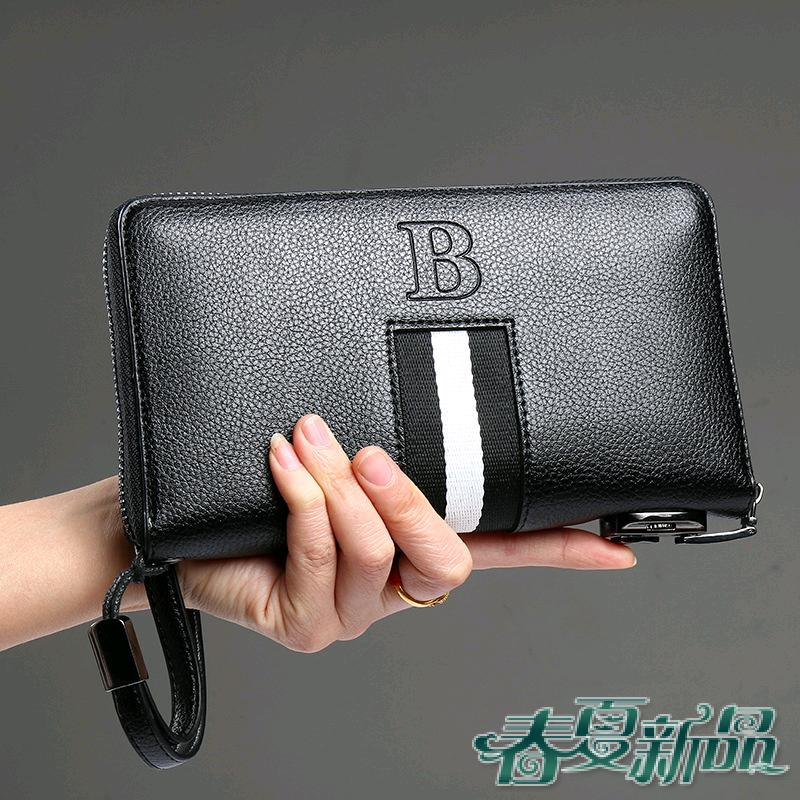 Wallet Bailey black long zipper bag new style with code lock mens and womens small handbag with multi-functional wallet grip
