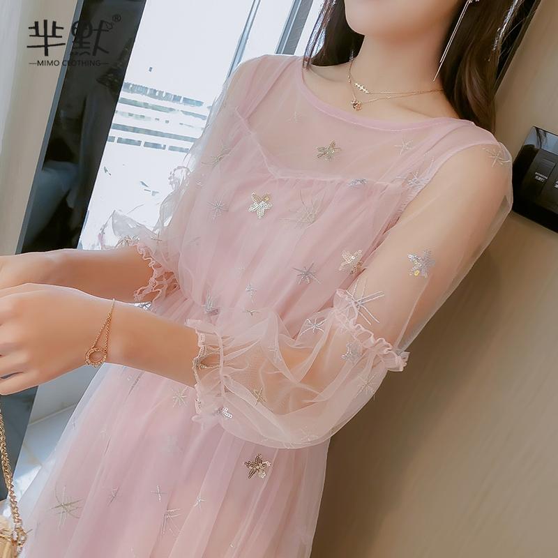 2019年新款流行夏天收腰显瘦连衣裙热销10件需要用券