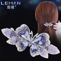 Hairpin adult Korean simple headdress sweet bow Card issuing medium spring clip clip small clip hair Jewelry