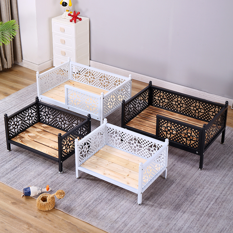 Dog bed Iron Dog Bed cat bed small, medium and large pet products solid wood bed golden teddy bear products nest