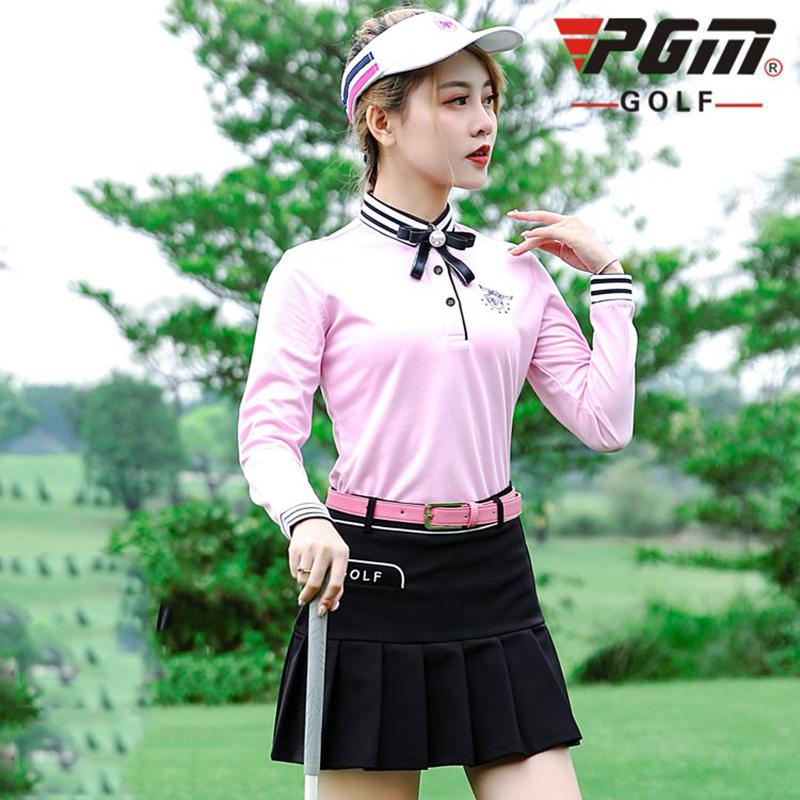 女裤子女士打底皮带防晒球衣冰丝腰带弹力套袖高尔夫球高尔夫服装