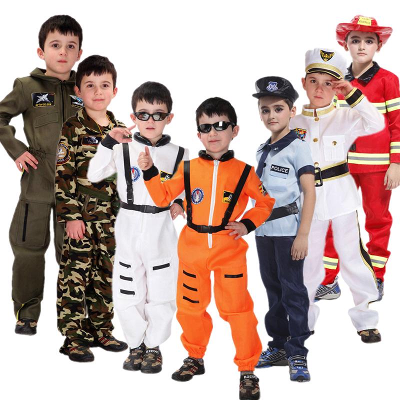 万圣节儿童cosplay服装幼儿面具舞会制服消防员服cos警察服宇航员