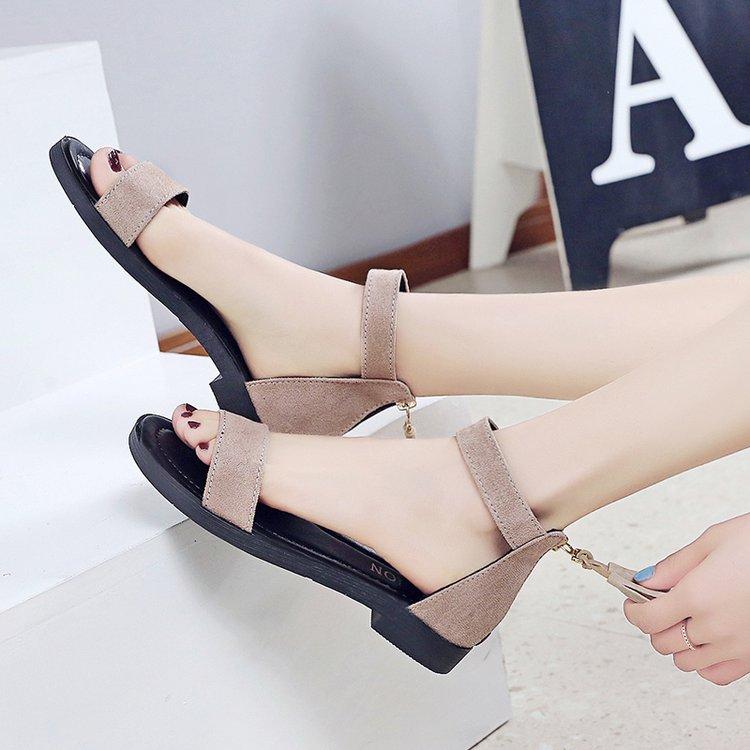 Roman sandals womens summer 2019 new Korean girls junior high school students shoes versatile work shoes