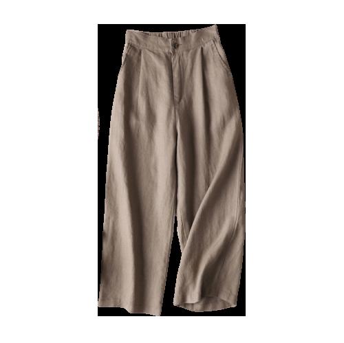 亚麻阔腿裤五色六码夏季女装新款九分休闲裤女冰丝棉麻宽松裤子女