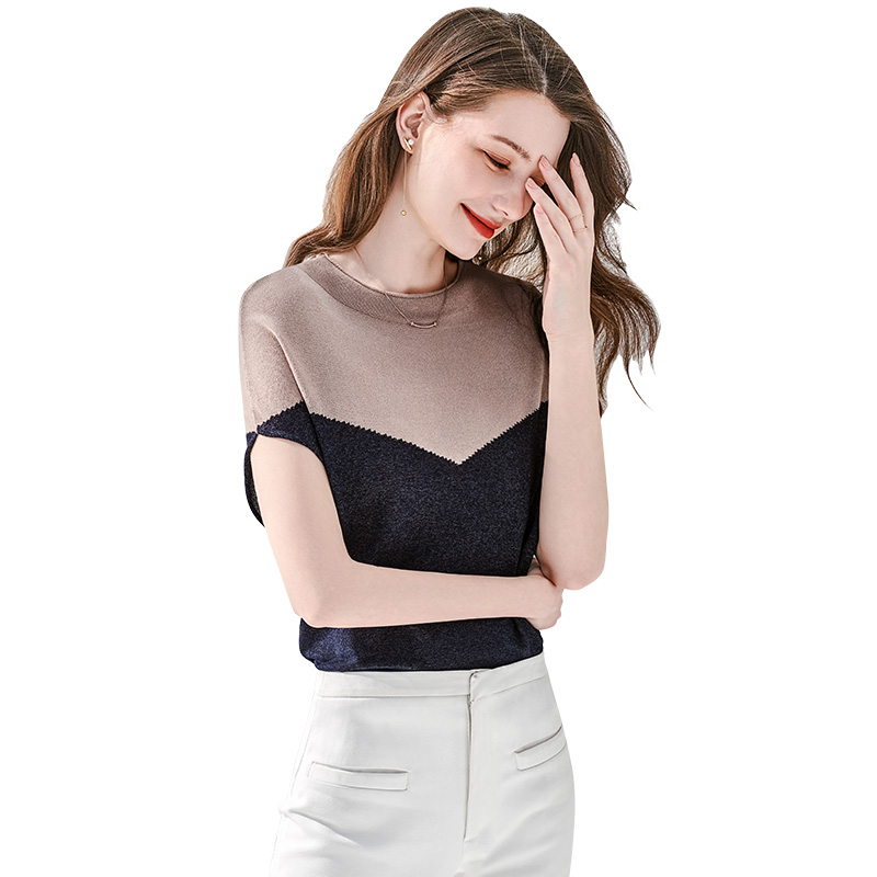 她池2021网红胖mm设计感上衣遮肚子t恤女爆款炸街时尚减龄衫春夏