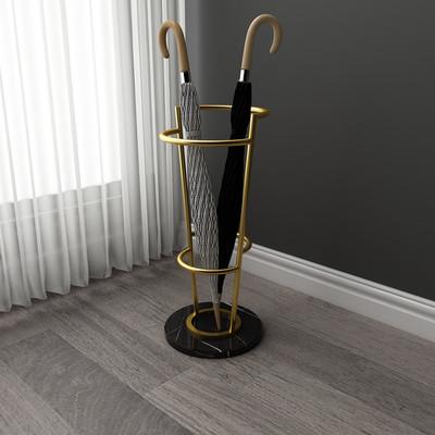 简约金属雨伞架北欧家用雨伞收纳桶创意大理石酒店大堂店面雨伞架