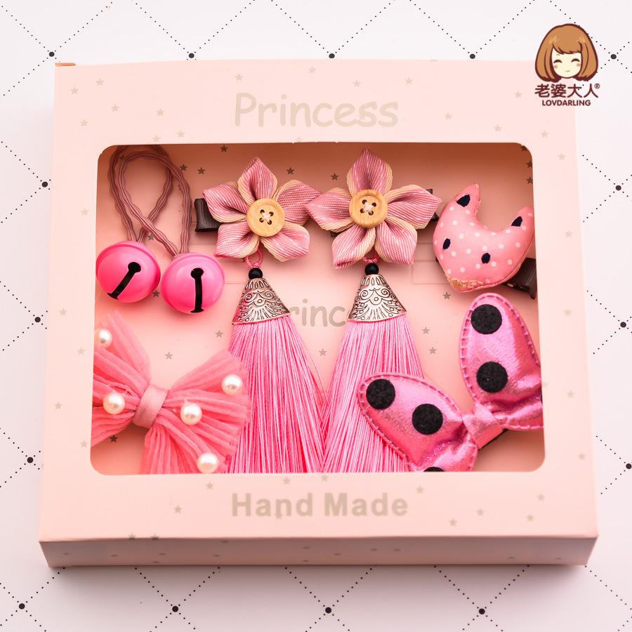 老婆大人中国风中式新年春节发夹礼盒套装礼品儿童发卡头饰发饰品