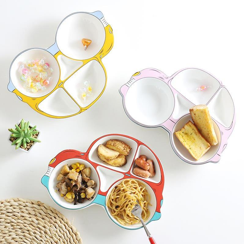 可折叠儿童单盘大号西餐酒店中式简约水果盘组合快餐盘餐具分格盘