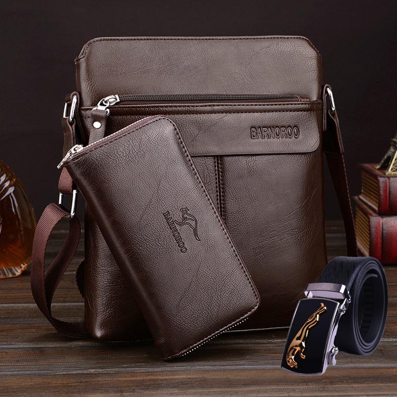 巴诺袋鼠男包单肩包男士包包背包斜挎包商务公文包跨包皮包竖休闲