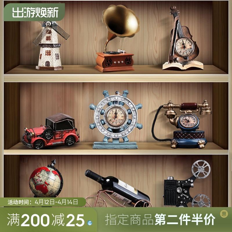 复古小摆件创意家居客厅欧式留声机