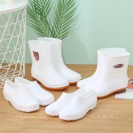 回力新款食品工厂靴高筒中筒低筒白色雨鞋男女士防滑工作水鞋胶鞋