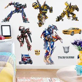 大黄蜂变形金刚机器人男孩卧室墙面装饰贴画儿童房卡通动漫墙贴纸