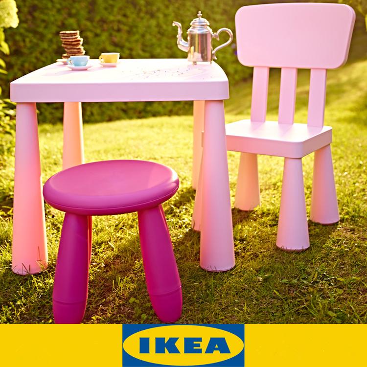 國內代購瑪莫特兒童學習桌幼兒園寶寶塑料畫畫寫字桌椅凳套裝
