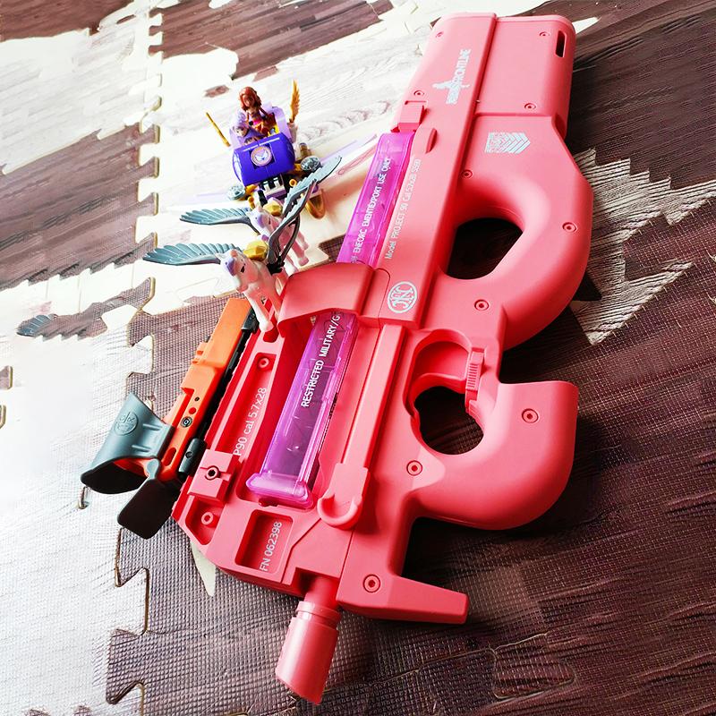 兵锋三代粉色P90水弹枪电动连发真人CS步抢冲锋枪模型儿童玩具枪限2000张券