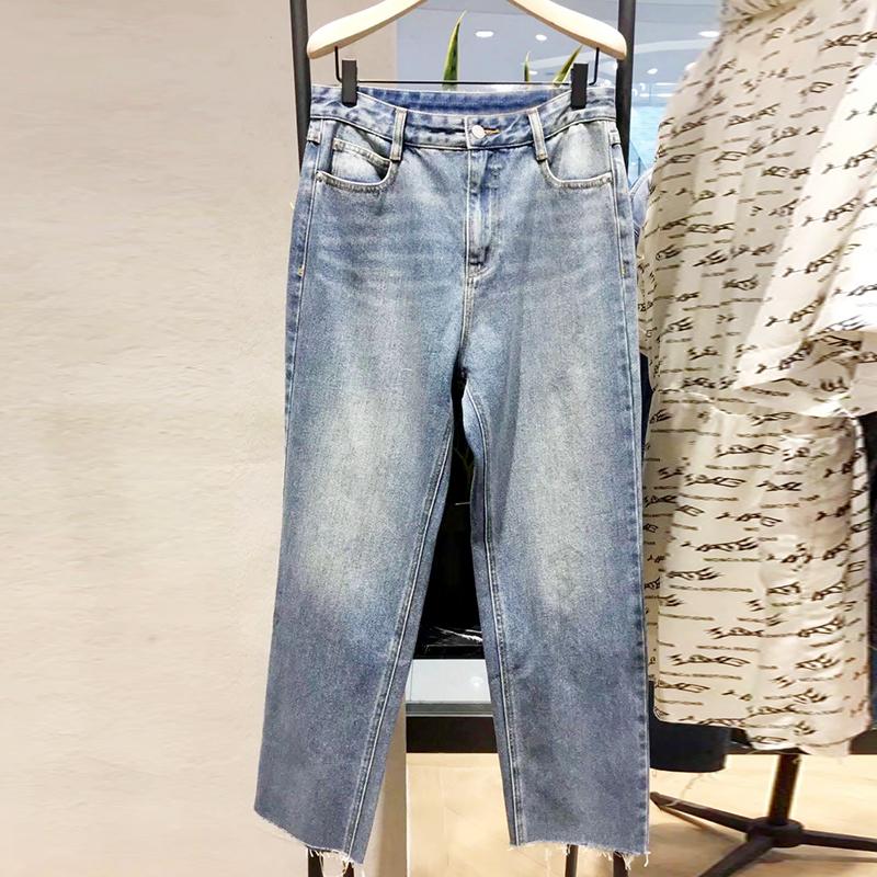 限9000张券a moco up2019秋新款女装牛仔裤子