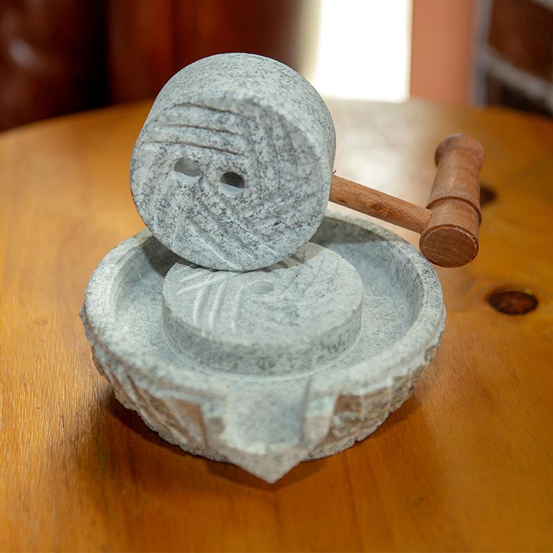 天然观赏小石磨家居装饰小摆件创意礼品怀旧磨盘复古摆件装饰品