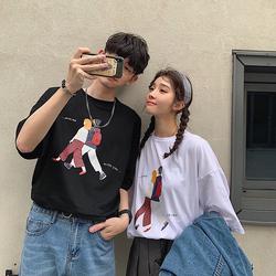 情侣装T恤夏季卡通男女学生短袖韩版上衣班服2019新款Q8026特P30