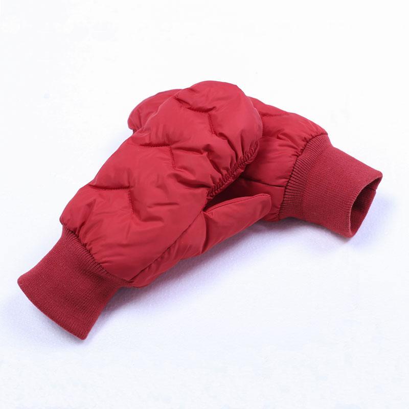 羽绒手套女冬季保暖加厚加绒可爱骑行男士冬天滑雪挂脖棉手套连指