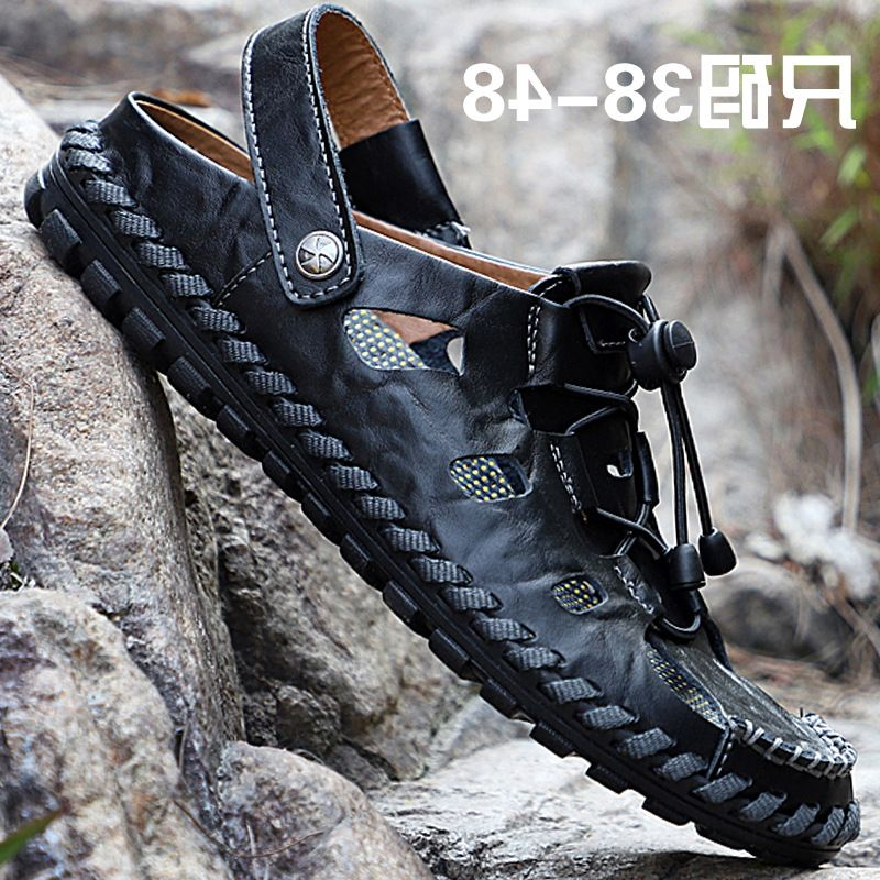 Brand 2020 summer Augustus mens large sandals mens fashion leather beach shoes casual sandals mens shoes