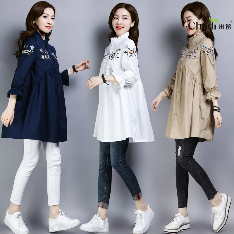 T-shirt 9 / 3 sleeve middle eldest girls new large size top in spring 2019/