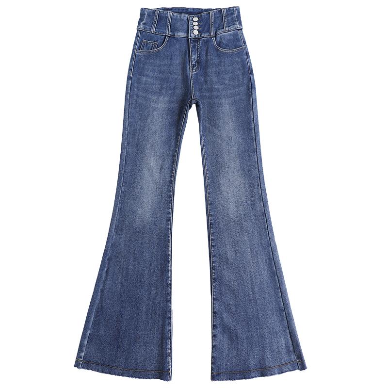 喇叭裤高腰显瘦黑色宽松直筒牛仔裤怎么样