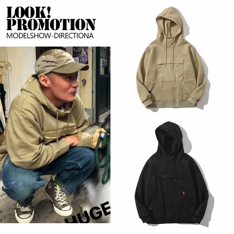 Spring and autumn mens fashion brand sweater Yu wenle high neck Hoodie loose top trendy Hong Kong Hoodie