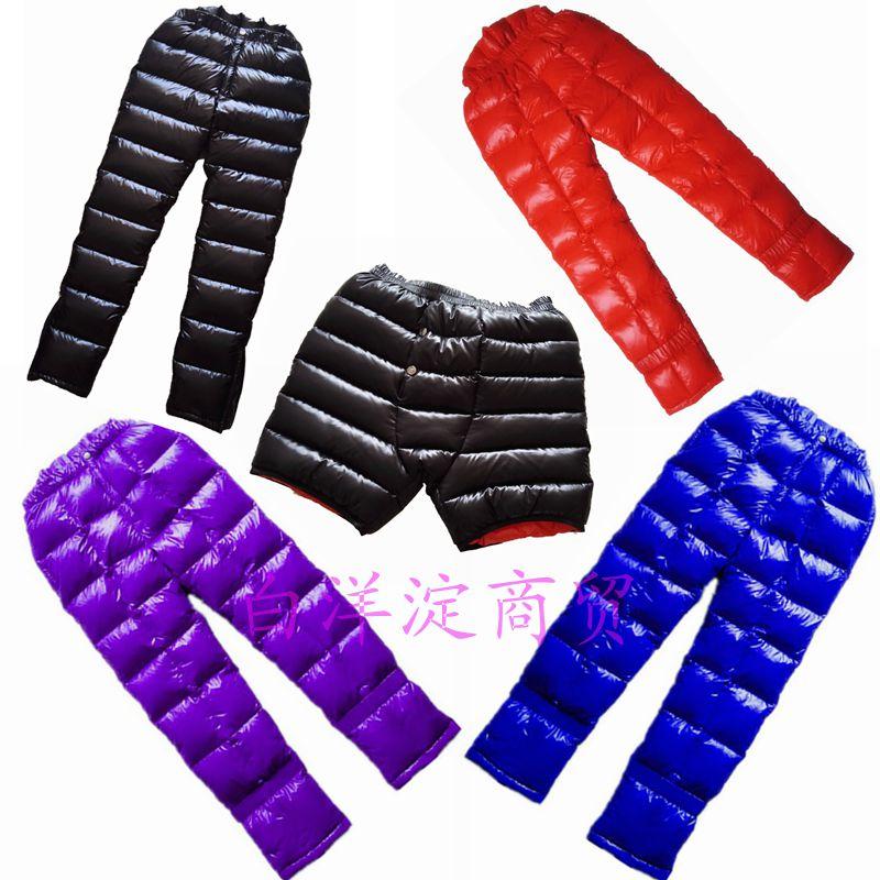 Пользовательские наружные брюки с пуховыми трусами высокая ремень Поясной пояс утепленный Холодный и сверхлегкий свет удерживающий тепло
